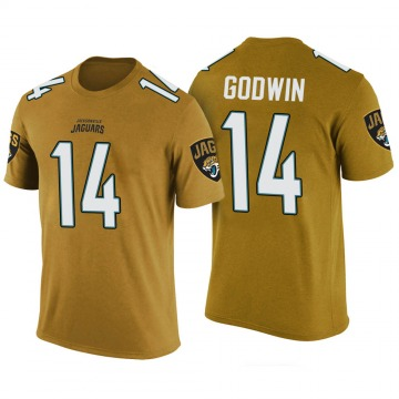 Men's Terry Godwin Jacksonville Jaguars Gold Color Rush Legend T-Shirt