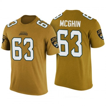 Youth Garrett McGhin Jacksonville Jaguars Gold Color Rush Legend T-Shirt