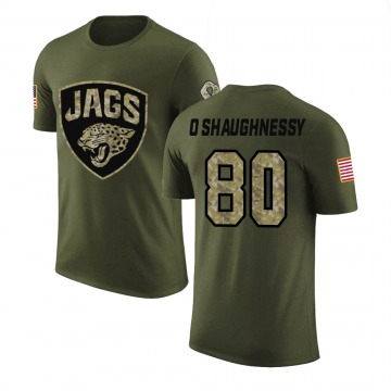 Youth James O'Shaughnessy Jacksonville Jaguars Olive Salute to Service Legend T-Shirt