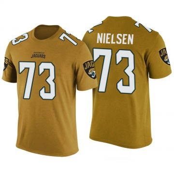 Youth Steven Nielsen Jacksonville Jaguars Gold Color Rush Legend T-Shirt