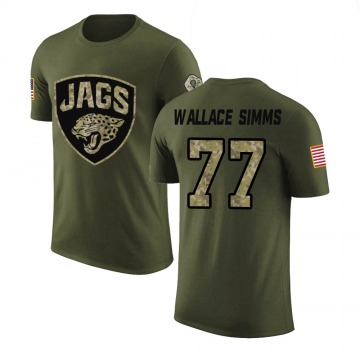 Youth Tre'Vour Wallace-Simms Jacksonville Jaguars Olive Salute to Service Legend T-Shirt